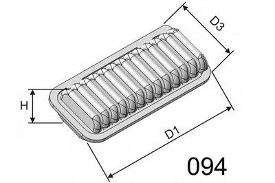 P247 MISFAT Воздушный фильтр