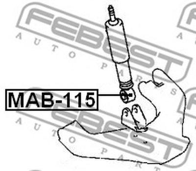 Сайлентблок амортизатора переднего PAJERO II V14W-V55W 91-04 FEBEST MAB115-1