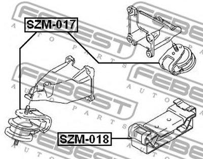 Подушка двигателя зад. FEBEST SZM018