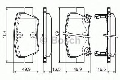 """Гальмівні колодки TOYOTA Avensis """"R """"09>>"""