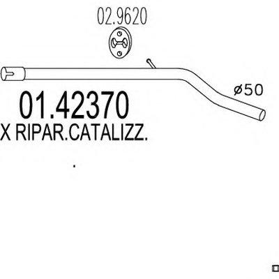 0142370 MTS Ремонтная деталь узла выхлопной системы