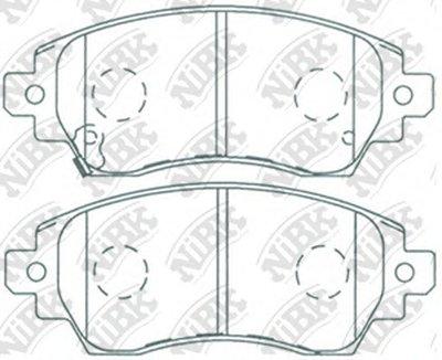 Автозапчасть/Колодки тормозные дисковые pn1194 NIBK PN1194 для авто  с доставкой