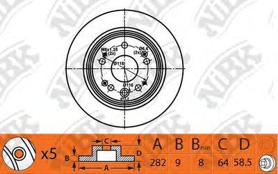 Автозапчасть/Диск тормозной rn1460 NIBK RN1460 для авто  с доставкой