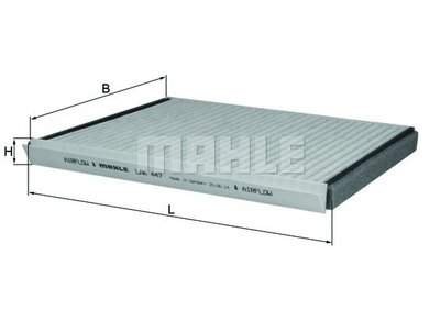 Cabin-air filter - with active carbon