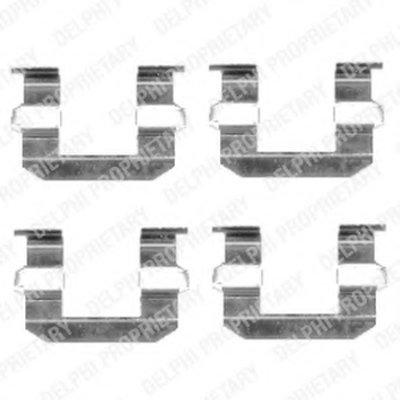 Lx0400_!ремк-Т Торм.колодок Пер. Hyundai Santa Fe 2.0Crdi2.4 16V2.7 V6 03 DELPHI LX0400 для авто HYUNDAI, KIA, SSANGYONG с доставкой