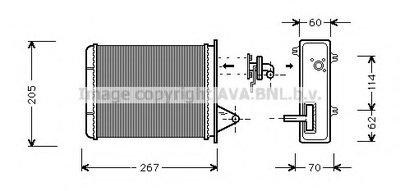Радиатор печки AVA QUALITY COOLING FT6089 для авто FIAT с доставкой