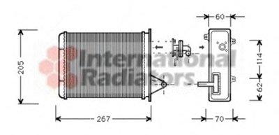 Теплообменник, отопление салона VAN WEZEL 17006089 для авто FIAT с доставкой
