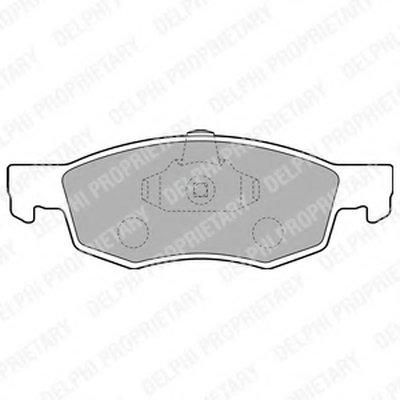 Lp1796_!колодки Дисковые П. Fiat Doblo 1.21.61.3D1.9Djtd 01 DELPHI LP1796 для авто FIAT с доставкой