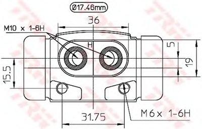 BWC189 TRW Колесный тормозной цилиндр -1