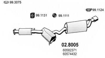 Средний / конечный глушитель ОГ ASSO купить