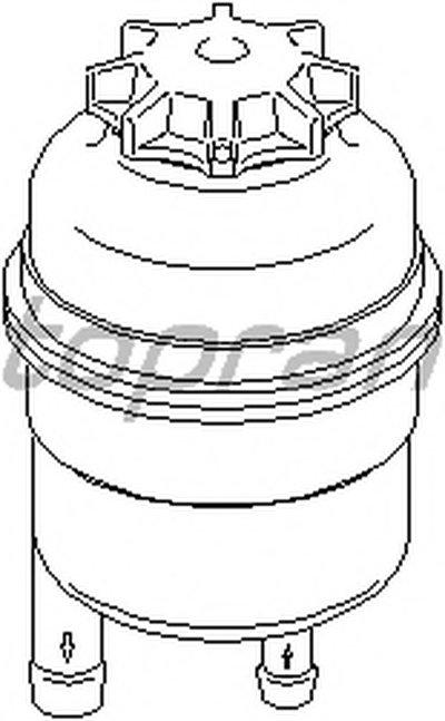 Компенсационный бак, гидравлического масла услителя руля TOPRAN купить