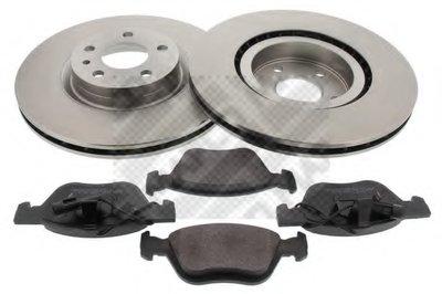Комплект тормозов, дисковый тормозной механизм MAPCO купить