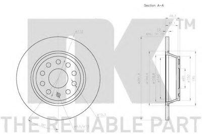 Диск Тормозной NK 2047133 для авто AUDI, SEAT, SKODA, VW с доставкой-2