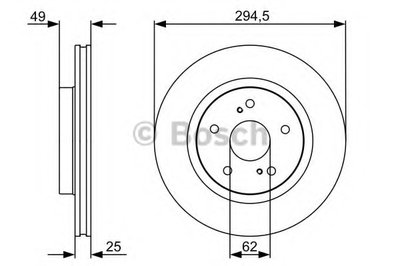Гальмівний диск SUZUKI Grand Vitara 1,6-3,2 4WD 05-