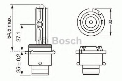 Лампа D2S 35W XENON BOSCH 1987302904