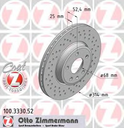 Тормозной диск Sport/ Coat Z