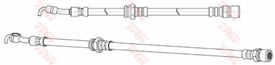 PHD991 TRW Тормозной шланг
