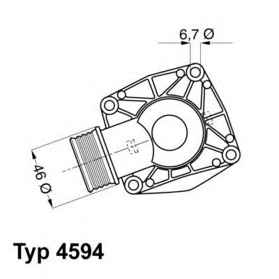 459490D WAHLER Термостат, охлаждающая жидкость