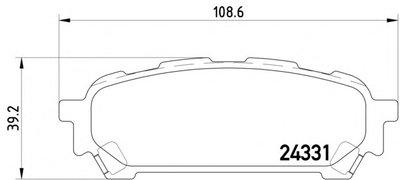Фотография Комплект тормозных колодок, дисковый тормоз MINTEX MDB2577