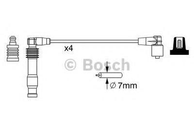 0986357228 BOSCH Комплект проводов зажигания