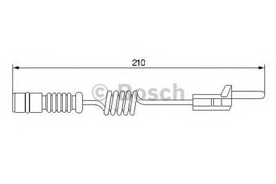Датчик Износа Дисковых Тормозных Колодок BOSCH 1987474969 для авто MERCEDES-BENZ, PUCH, VW с доставкой