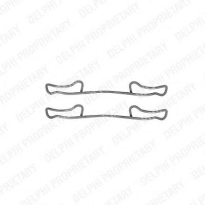 Lx0294_!ремк-Т Торм.колодок Зад. Mb T4 2.12.22.6, Vw Lt28-35 2.5Tdi 96-06 DELPHI LX0294 для авто MERCEDES-BENZ, VW с доставкой