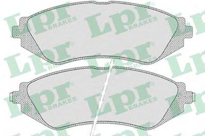 05P682  LPR - Гальмівні колодки до дисків (F, з датчиком) LPR 05P682