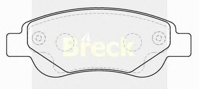 Комплект тормозных колодок, дисковый тормоз BRECK купить