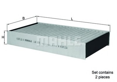 LAK878S KNECHT Фильтр, воздух во внутренном пространстве