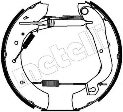 Комплект тормозных колодок Kit premounted METELLI купить