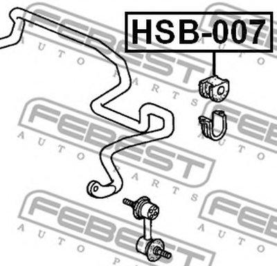 Втулка стабилизатора перед. подвески HONDA CR-V RD1/RD2 97-01 (D26) FEBEST HSB007-1