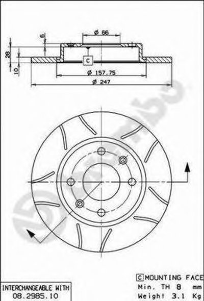 Тормозной диск BREMBO MAX LINE BREMBO купить