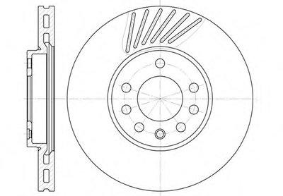 Торм.диск Пер.вент.288X25 5 Отв. ( Min2) REMSA 649410 для авто LOTUS, MITSUBISHI, OPEL, SAAB с доставкой