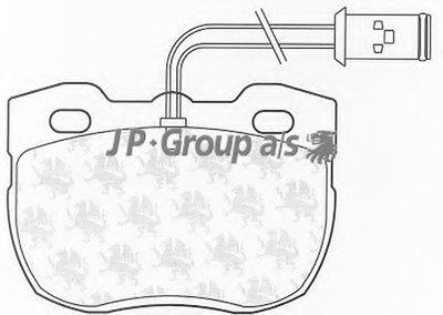 Комплект тормозных колодок, дисковый тормоз QH JP GROUP купить