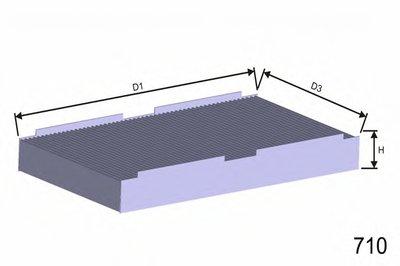 Фильтр, воздух во внутренном пространстве MISFAT MISFAT купить