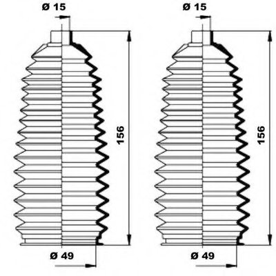 Пыльник Рулевой Рейки (Комплект) MOOG K150197 для авто MAZDA с доставкой-1