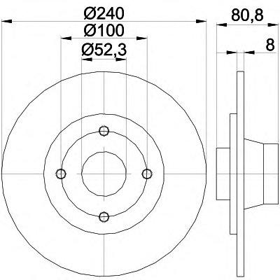 92154400 TEXTAR Тормозной диск
