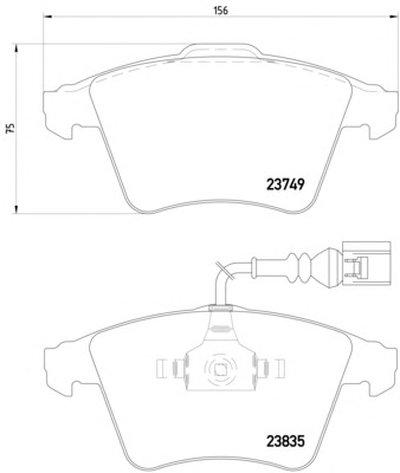 Фотография Комплект тормозных колодок, дисковый тормоз TEXTAR 2374901