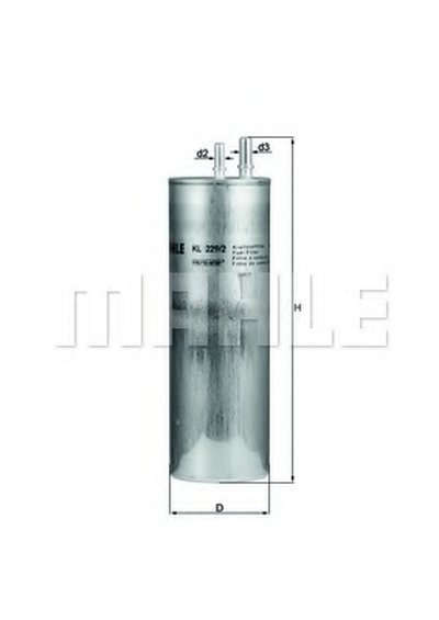KL2292 KNECHT Топливный фильтр