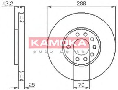 Гальмiвнi диски KAMOKA 1031620 для авто OPEL с доставкой