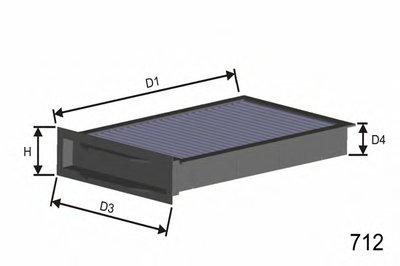 HB269 MISFAT Фильтр, воздух во внутренном пространстве