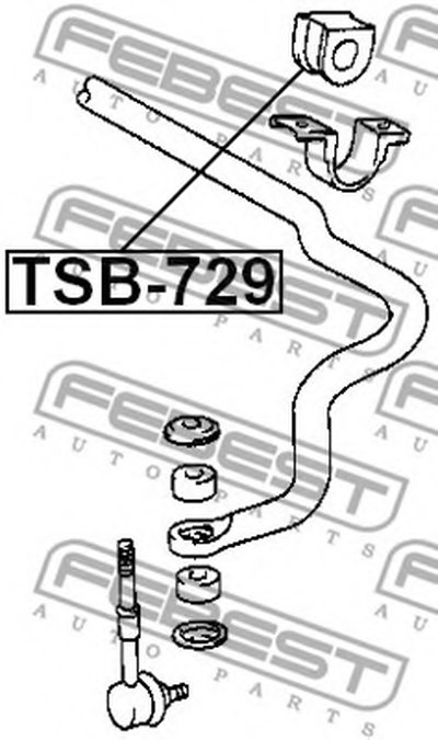 Втулка стабілізатора FEBEST TSB729-1