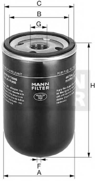 WK929X MANN-FILTER Топливный фильтр
