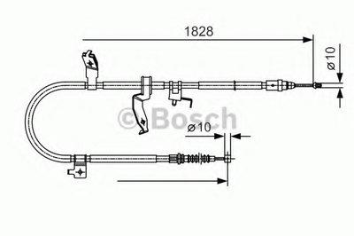 Гальмівний трос (ручник) 1828mm MAZDA 5 ''LH ''1,8-2,0 ''05-10