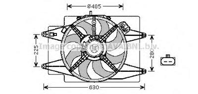 Вентилятор, охлаждение двигателя AVA QUALITY COOLING купить