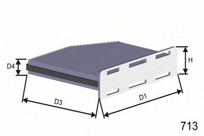 HB166 MISFAT Фильтр, воздух во внутренном пространстве