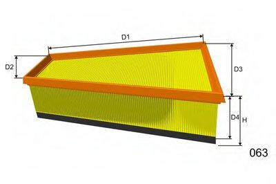 P543A MISFAT Воздушный фильтр