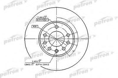 Диск Тормозной Передн Opel:calibra A 03.92-07.97,speedster 09.00-,vectra B 10.95-04.02,vectra B Хечб PATRON PBD2778 для авто CHEVROLET, LOTUS, OPEL, SAAB с доставкой