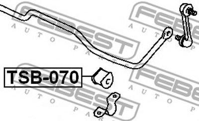Втулка стабилизатора FEBEST TSB070-1