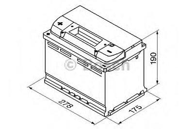 0092S40090 BOSCH Стартерная аккумуляторная батарея; Стартерная аккумуляторная батарея-5